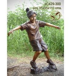 Sculpture bronze enfant ac429-300