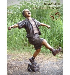 Sculpture bronze enfant ac429-400