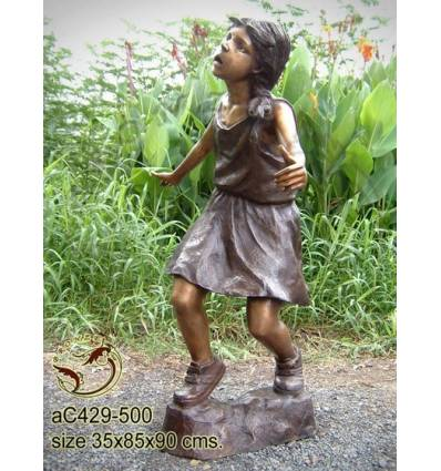 Sculpture bronze enfant ac429-500