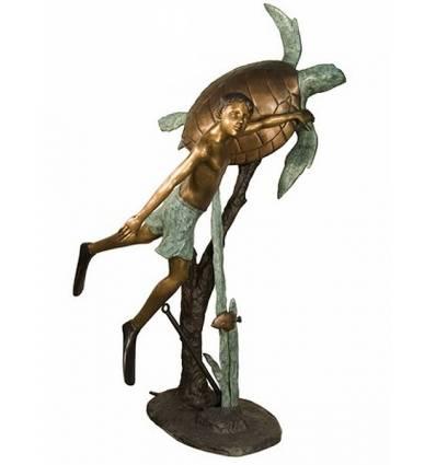 Sculpture bronze enfant BRZ1304