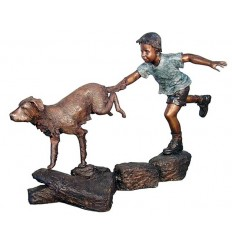 Sculpture bronze enfant BRZ1308