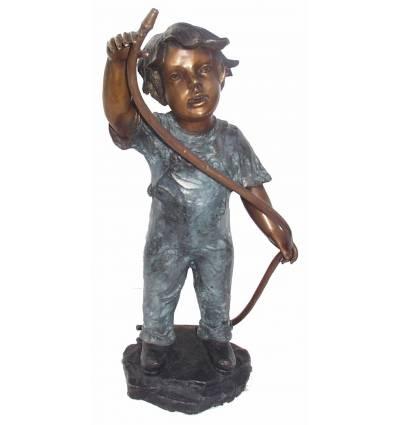 Sculpture bronze enfant BRZ0246