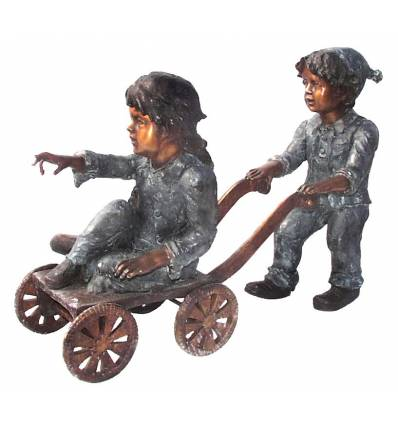 Sculpture bronze enfant BRZ250