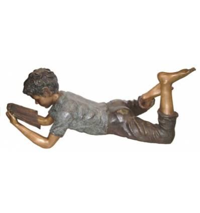 Sculpture bronze enfant BRZ0305v