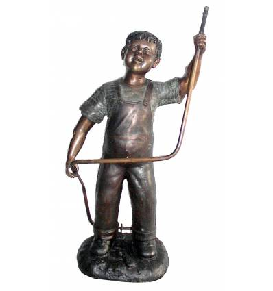 Sculpture bronze enfant BRZ0564