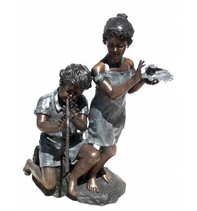 Sculpture bronze enfant BRZ0747