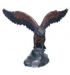Bronze animalier : aigle en bronze BRZ0425-28 ( H .71 x L .88 Cm )
