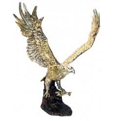 Bronze animalier : aigle en bronze BRZ0640O ( H .53 x L .25 Cm ) Poids : 6 Kg