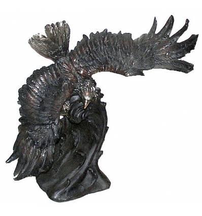 Bronze animalier : aigle en bronze BRZ0956 ( H .84 x L .81 Cm ) Poids : 47 Kg
