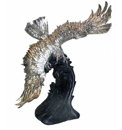 Bronze animalier : aigle en bronze BRZ0956O ( H .84 x L .81 Cm ) Poids : 47 Kg
