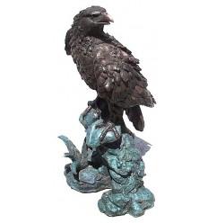 Bronze animalier : aigle en bronze BRZ0976 ( H .89 x L .51 Cm )