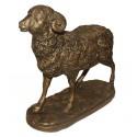 Bélier en bronze BRZ0371 ( H .20 x L .22 Cm ) Poids : 3 Kg