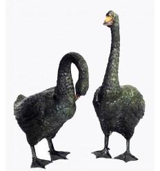 Oies en bronze BRZ0082V ( H .68 x L .40 Cm ) Poids : 20 Kg