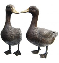 Bronze animalier : canard en bronze BRZ0207 ( H .40 x L .40 Cm ) Poids : 9 Kg