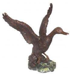 canard en bronze BRZ0374  ( H .38 x L .33 Cm )  Poids : 4 Kg
