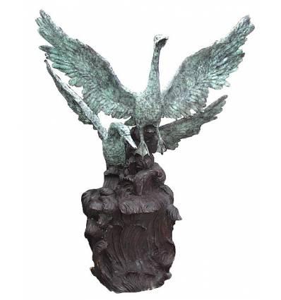 Bronze animalier : canard en bronze BRZ0706v ( H .152 x L .114 Cm )