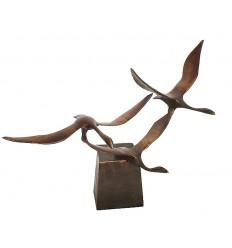 Bronze animalier : canard en bronze BRZ0722  ( H .53 x L . Cm )  Poids : 6 Kg