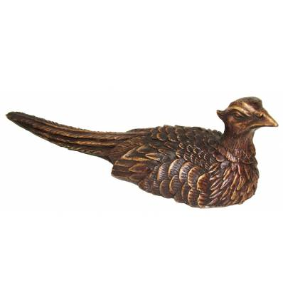 Bronze animalier : canard en bronze BRZ0995  ( H .7 x L .25 Cm )  Poids : 0.8 Kg