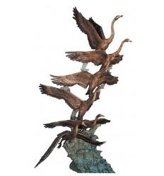 Bronze animalier : canard en bronze BRZ1008  ( H .287 x L . Cm )