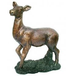 Bronze animalier : cerf en bronze BRZ1327 ( H .28 x L .25 Cm ) Poids : 4 Kg
