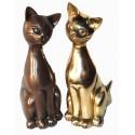 chat en bronze BRZ0090 ( H .30 Cm ) Poids : 4 Kg