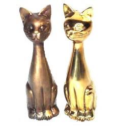 Bronze animalier : chat en bronze BRZ0091 ( H .38 Cm ) Poids : 3 Kg