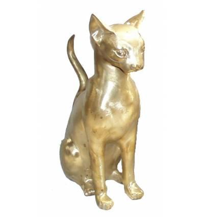 Bronze animalier : chat en bronze BRZ0855O ( H .36 Cm ) Poids : 3 Kg