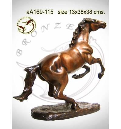 Bronze animalier : cheval en bronze aa169-115 ( H .38 x L .38 Cm )