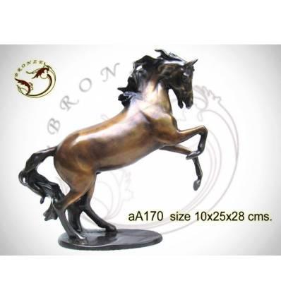 Bronze animalier : cheval en bronze aa170-100  ( H .28 x L .25 Cm )