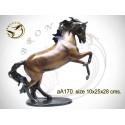 cheval en bronze aa170-100 ( H .28 x L .25 Cm )