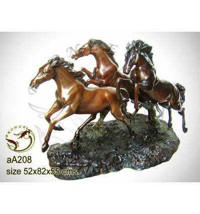 Bronze animalier : cheval en bronze aa208-100 ( H .55 x L .82 Cm )