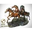 cheval en bronze aa208-100 ( H .55 x L .82 Cm )