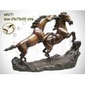 cheval en bronze aa211-100 ( H .55 x L .75 Cm )
