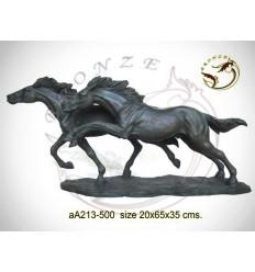 cheval en bronze aa213-500 ( H .35 x L .65 Cm )