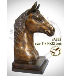 Bronze animalier : cheval en bronze aa282-100  ( H .22 x L .14 Cm )