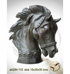 Bronze animalier : cheval en bronze aa284-115  ( H .35 x L .35 Cm )