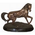 cheval en bronze BRZ0059 ( H .48 x L .55 Cm ) Poids : 15 Kg