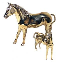 cheval en bronze BRZ0065O ( H .18 x L .21 Cm ) Poids : 1 Kg