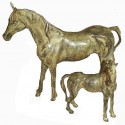 cheval en bronze BRZ0065V ( H .18 x L .21 Cm ) Poids : 1 Kg