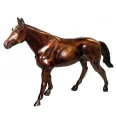 Bronze animalier : cheval en bronze BRZ0274 ( H .25 x L .43 Cm )