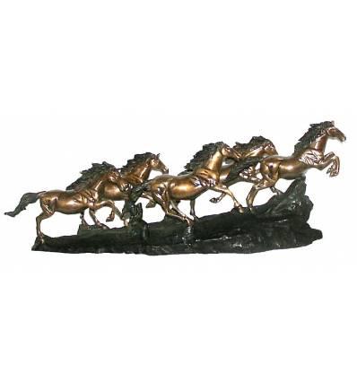 Bronze animalier : cheval en bronze BRZ0379-33 ( H .25 x L .30 Cm )