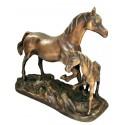 cheval en bronze BRZ0853  ( H .20 x L .25 Cm )  Poids : 2 Kg