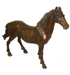 Bronze animalier : cheval en bronze BRZ1074/SM175  ( H .30 x L :40 Cm )