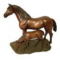 cheval en bronze BRZ1144 ( H .31 x L .35 Cm )