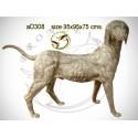 chien en bronze ad308-100 ( H .75 x L .95 Cm )