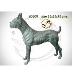 chien en bronze ad309-100  ( H .75 x L .85 Cm )