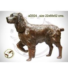 Bronze animalier : chien en bronze ad324-100  ( H .52 x L .68 Cm )