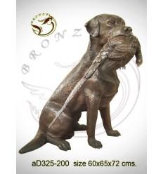 Bronze animalier : chien en bronze ad325-200  ( H .72 x L .65 Cm )