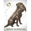 chien en bronze ad325-200 ( H .72 x L .65 Cm )