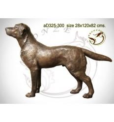 Bronze animalier : chien en bronze ad325-300 ( H .82 x L .120 Cm )